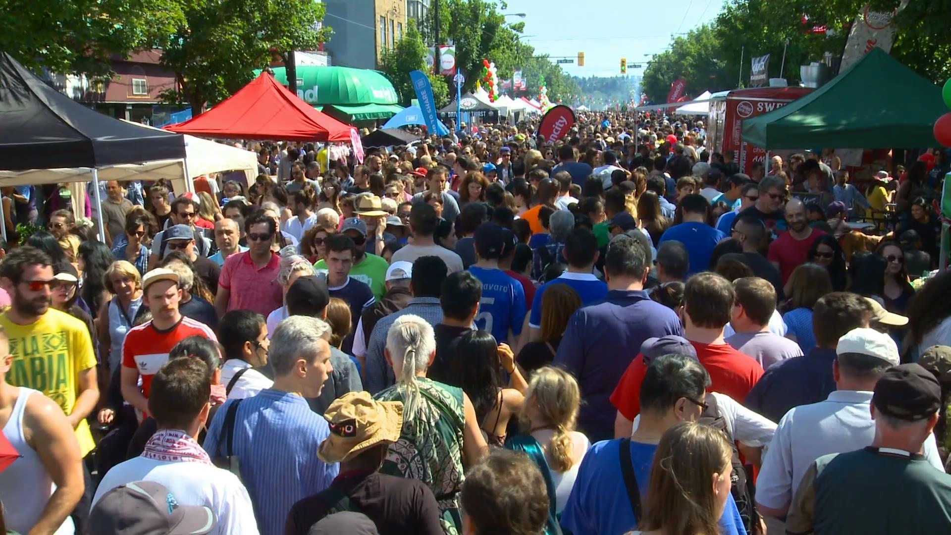 People in a street Festival