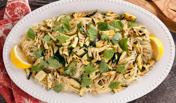 Pasta with Zucchini, Lemon and Mint
