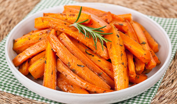 in the kitchen with stefano faita brown sugar roasted carrots served on a dish