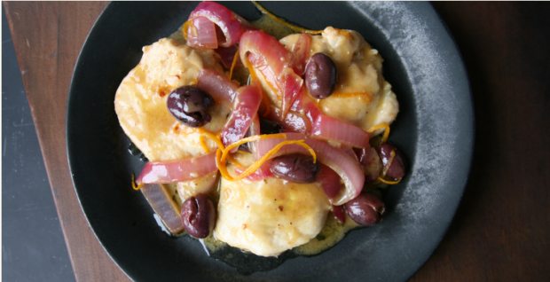 Chicken Breasts With Orange and Gaeta olives