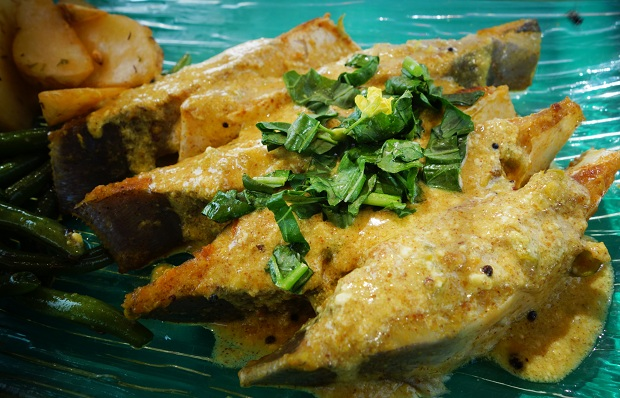 Fried Mustard Pomfret
