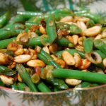 GREEN BEANS WITH PEANUTS & CHILE DE ARBOL