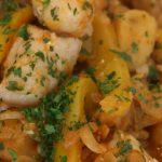 Grouper with Potatoes and Peppers