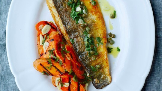 Sea bass and capers
