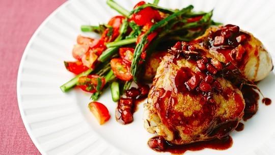 Chicken with pancetta, garlic, thyme and balsamic vinegar