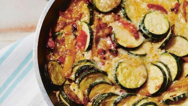 Courgette frittata with tomato salsa