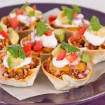 in the kitchen with stefano faita mini turkey tacos served on a plate