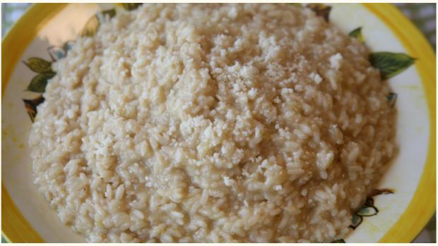 Creamy garlic risotto
