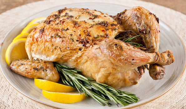 in the kitchen with stefano faita stefano's roast chicken with lemon and rosemary sprigs