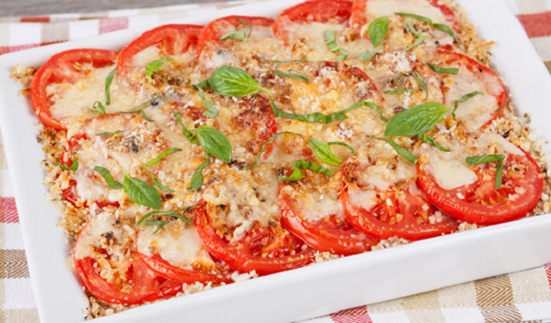 in the kitchen with stefano faita scalloped tomatoes on a white dish