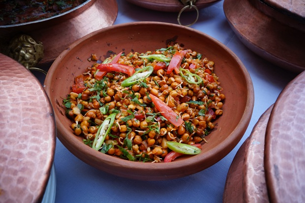 Sprouted Chickpea Salad