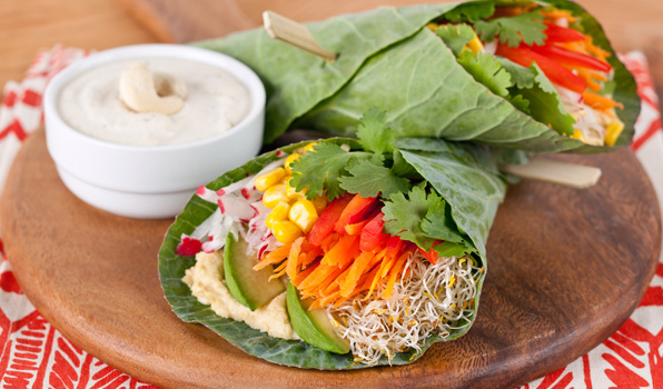 in the ktichen with stefano faita stefano's tex mex salad wrap served with cashew sour cream