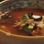 pati's mexican table tortilla soup served in a bowl