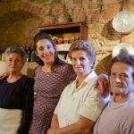 Picture Shows: Isabella, Michela, Maria and Palmira in kitchen