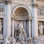 Baroque Trevi Fountain (Fontana di Trevi) in Rome