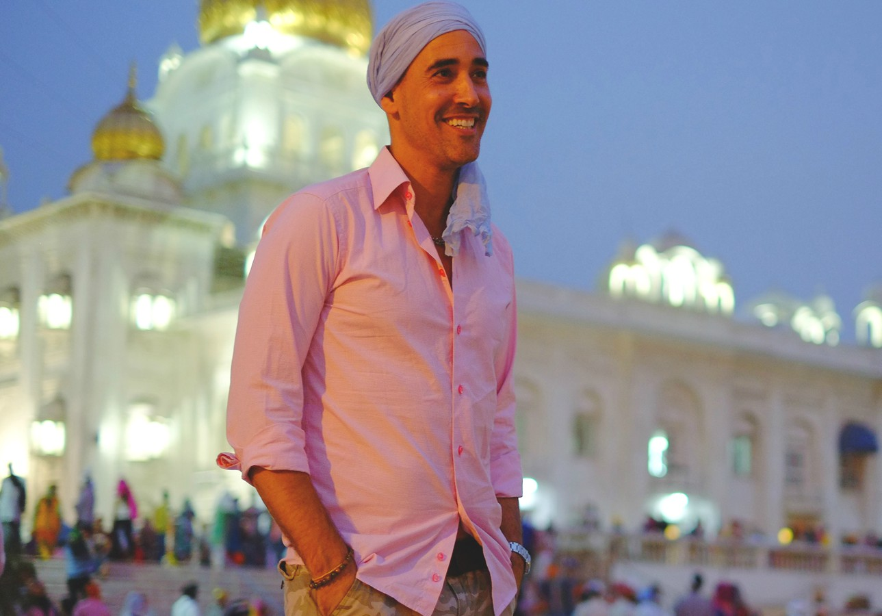 David Rocco smiling in India