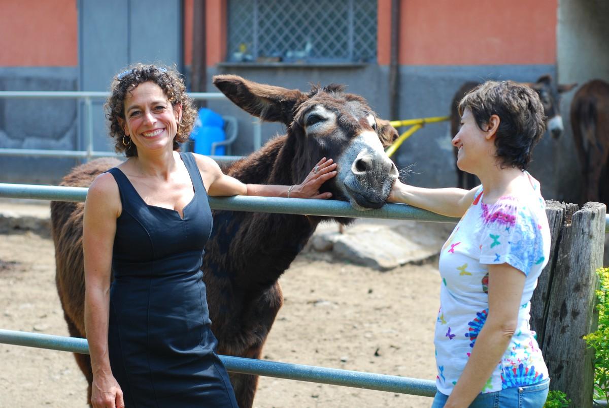 Alex Polizzi with a horse