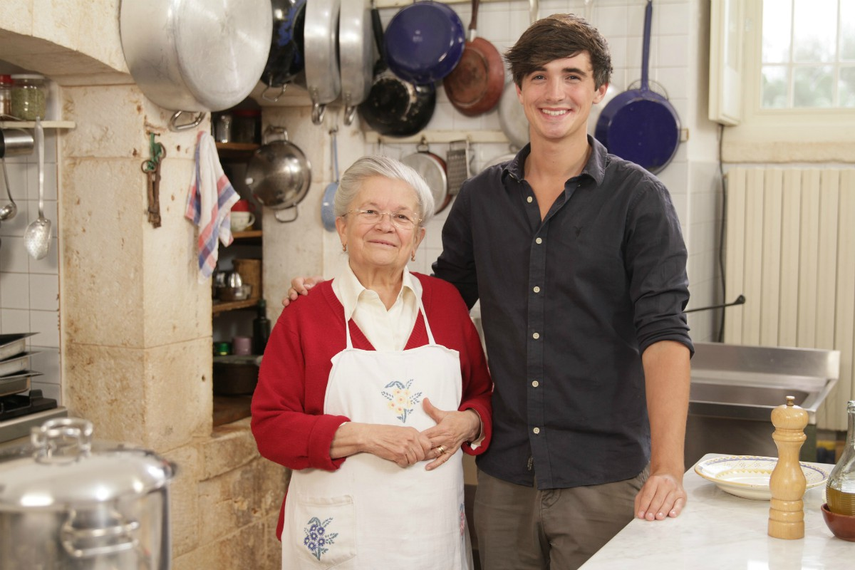 chef Donal Skehan with an elder woman