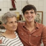 chef Donal Skehan with a woman
