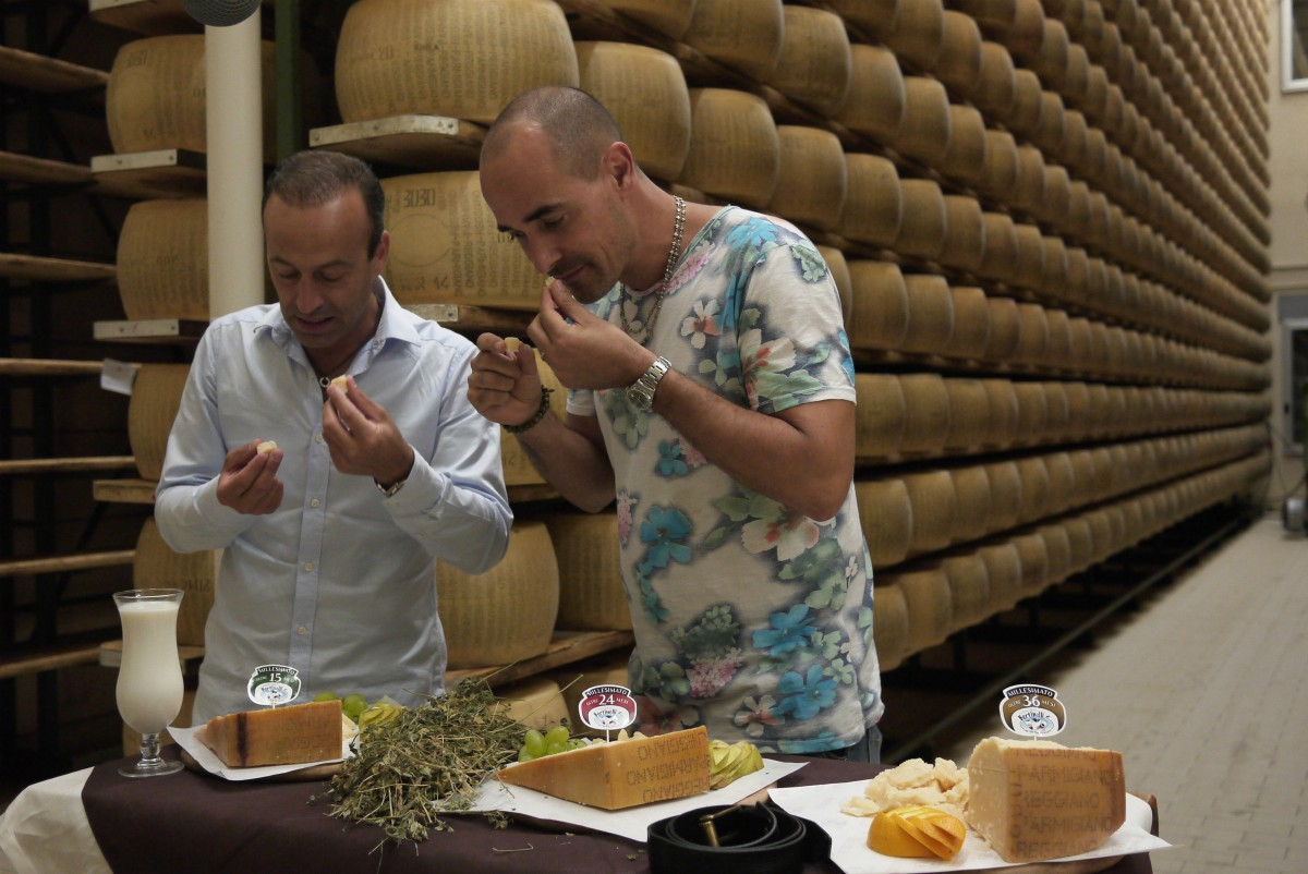 David Rocco trying cheese