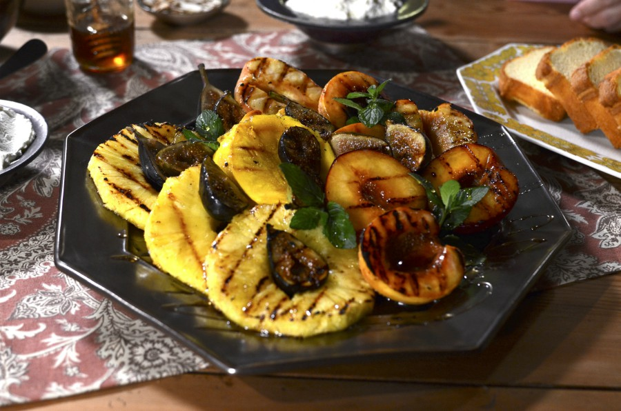 Grilled Pineapple, Figs and Peaches