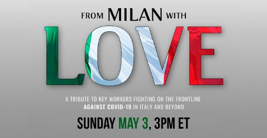 TLN SPECIAL LIVE TV EVENT ANNOUNCEMENT - FROM MILAN WITH LOVE: Sunday May 3 at 9pm/et - TLN